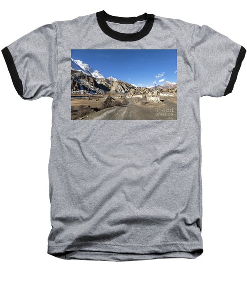 On The Annapurna Circuit Trekking Near Manang In Nepal Baseball T-Shirt