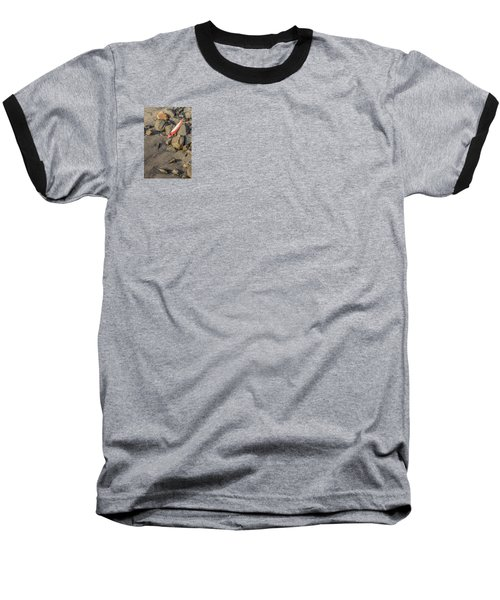 Baseball T-Shirt featuring the photograph On The Rocks by Peter Tellone