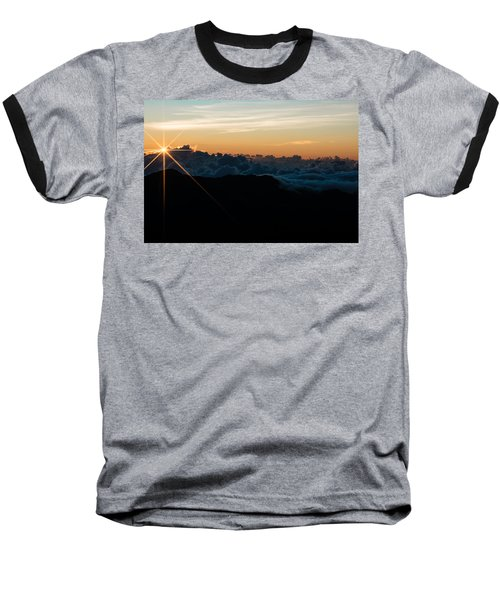 Baseball T-Shirt featuring the photograph On Top Of The World by Colleen Coccia