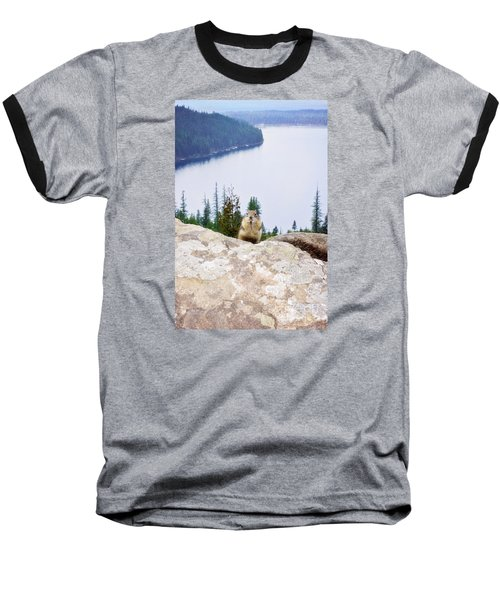 Baseball T-Shirt featuring the photograph On Top Of The World by Janie Johnson