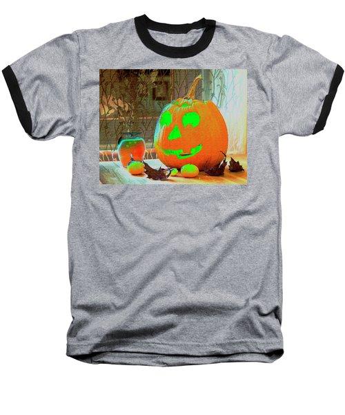 Orange Halloween Decoration Baseball T-Shirt