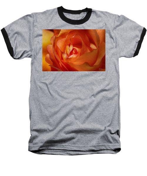 Orange Passion Baseball T-Shirt
