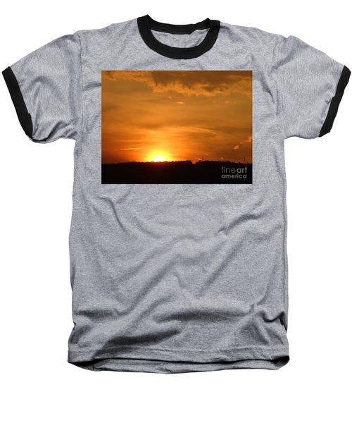 Orange Sunset  II Baseball T-Shirt