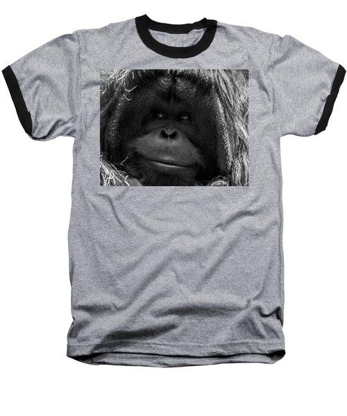Orangutan Baseball T-Shirt by Martin Newman