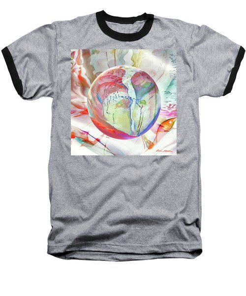 Orbiental Expression Baseball T-Shirt by Robin Moline