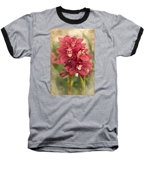 Orchid Baseball T-Shirt by Catherine Lau