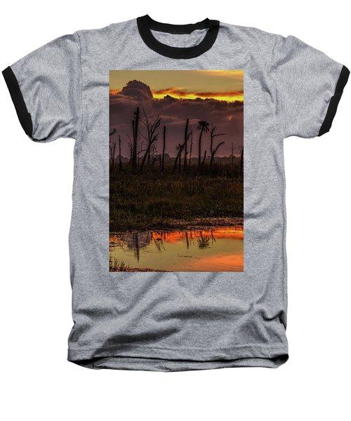 Orlando Wetlands Sunrise Baseball T-Shirt