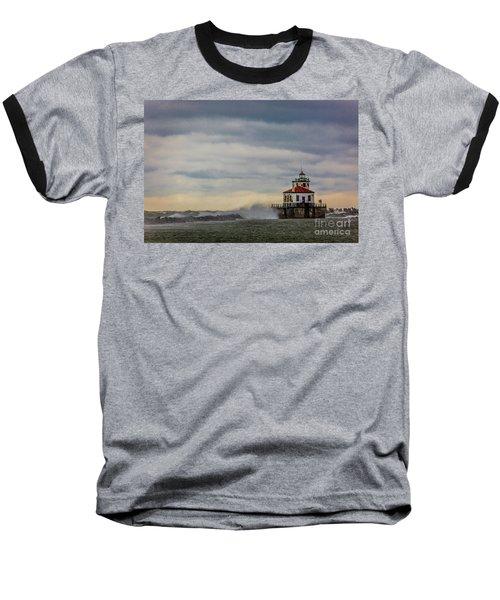 Oswego Harbor West Pierhead Light Baseball T-Shirt