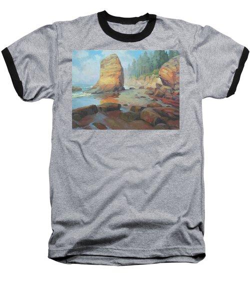 Otter Rock Beach Baseball T-Shirt