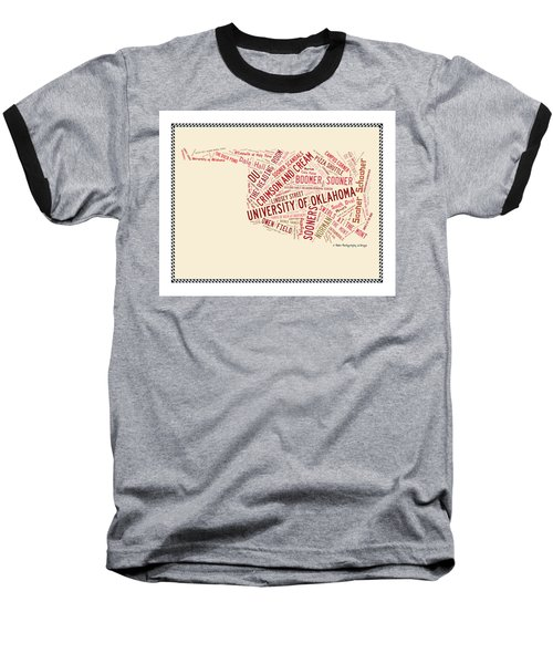 Ou Word Art University Of Oklahoma Baseball T-Shirt