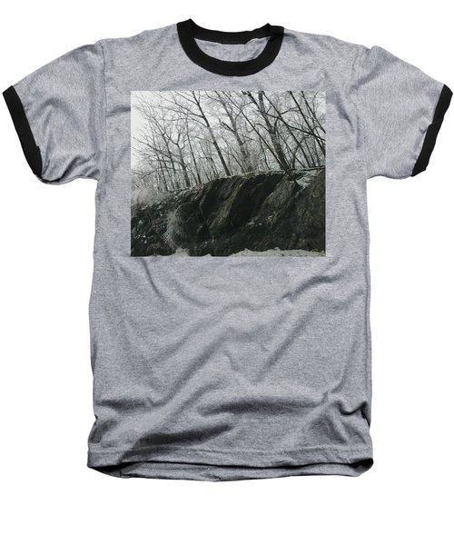 Baseball T-Shirt featuring the photograph Out Of The Rocks by Ellen Levinson