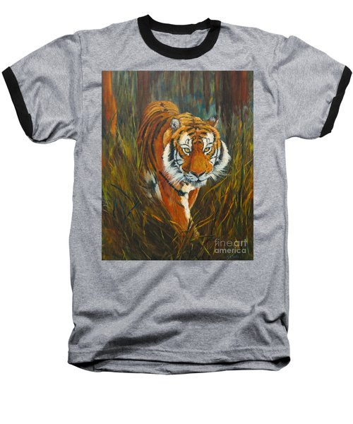 Baseball T-Shirt featuring the painting Out Of The Woods by Beatrice Cloake