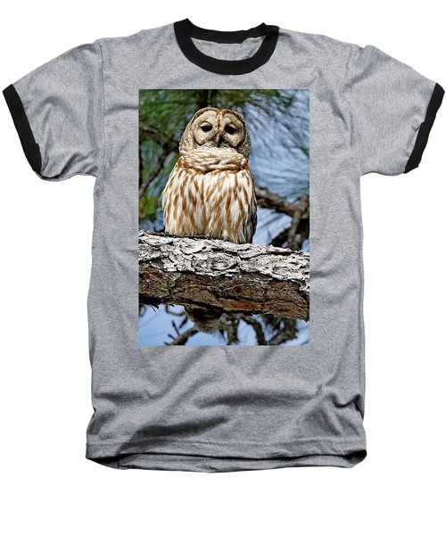 Owl In A Tree Baseball T-Shirt