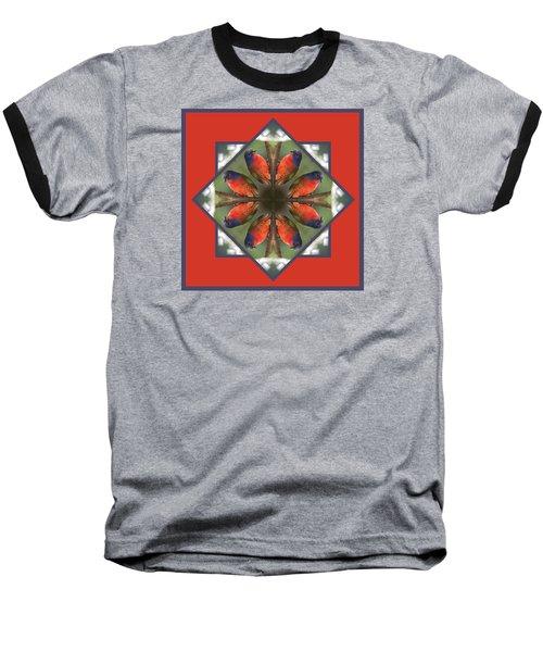 Painted Bunting Baseball T-Shirt by Rhoda Gerig