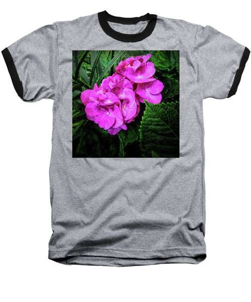 Painted Hydrangea Baseball T-Shirt