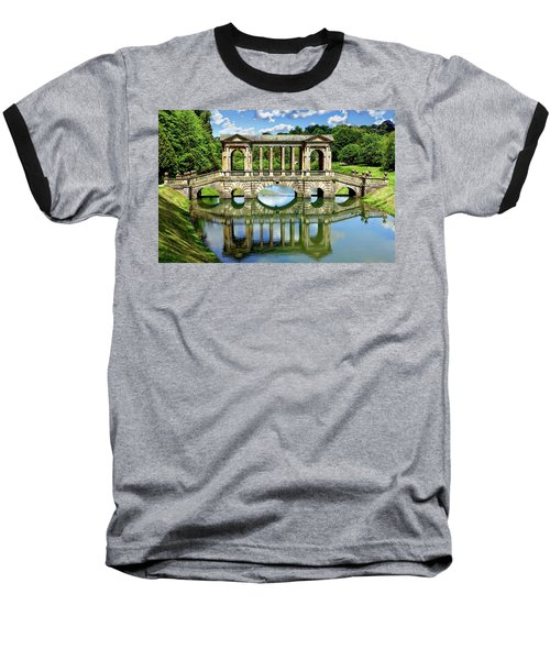 Palladian Bridge Nature Scene Baseball T-Shirt