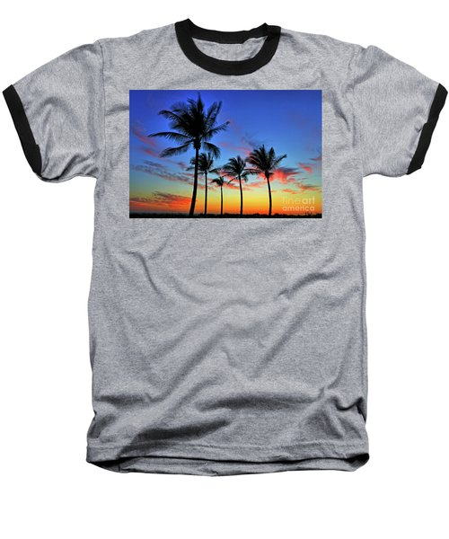 Baseball T-Shirt featuring the photograph Palm Tree Skies by Scott Mahon