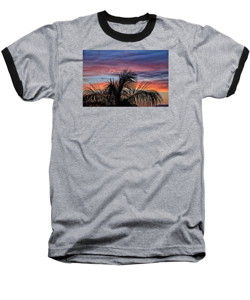 Baseball T-Shirt featuring the photograph Palm Tree Sunrise by Nikki McInnes