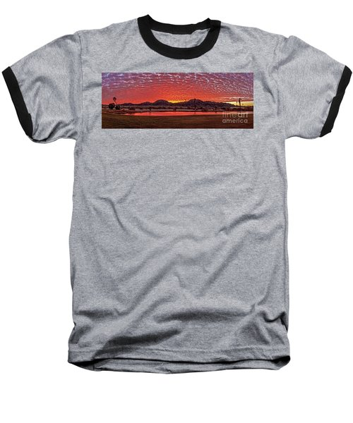 Panoramic Sunrise Baseball T-Shirt by Robert Bales