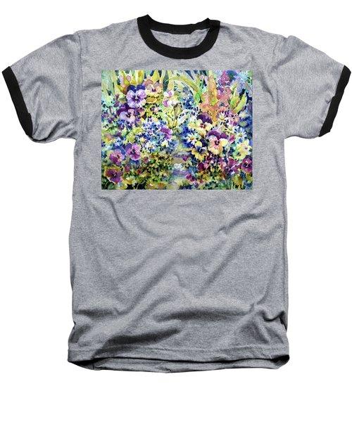 Pansy Path Baseball T-Shirt
