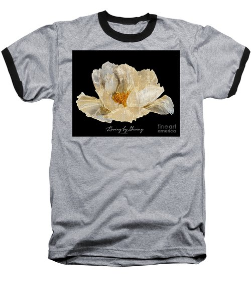 Paper Peony Baseball T-Shirt by Diane E Berry
