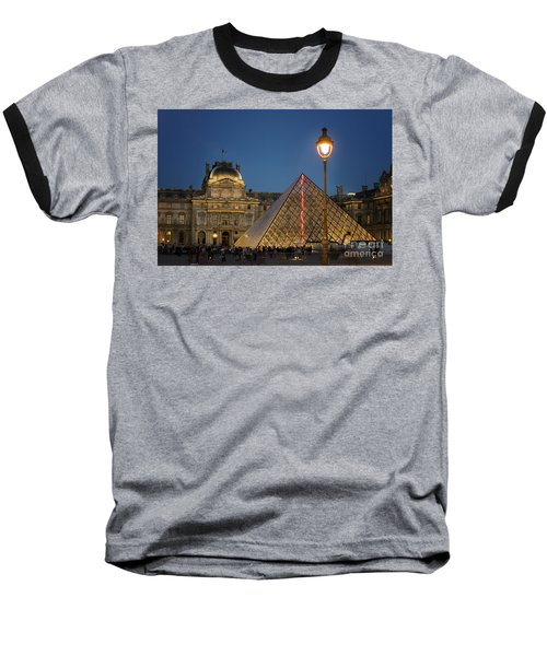 Louvre Museum At Twilight Baseball T-Shirt by Juli Scalzi