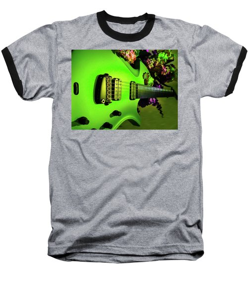Baseball T-Shirt featuring the digital art Parker Fly Guitar Hover Series by Guitar Wacky