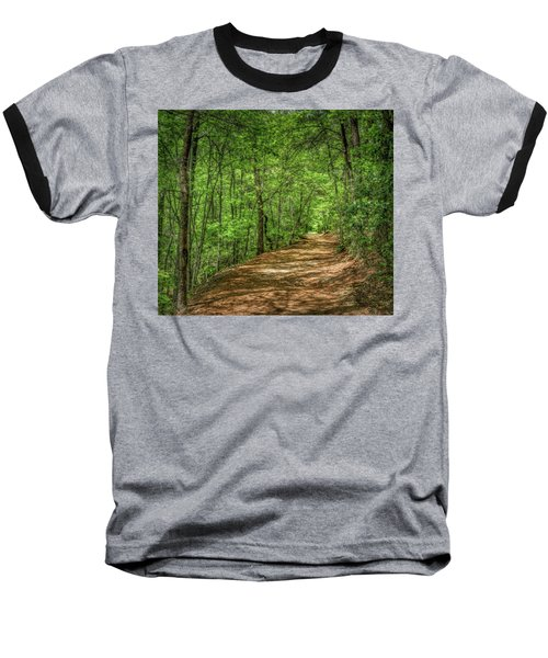 Path Less Travelled - Impressionist Baseball T-Shirt