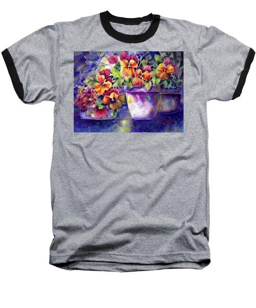 Patio Pansies Baseball T-Shirt