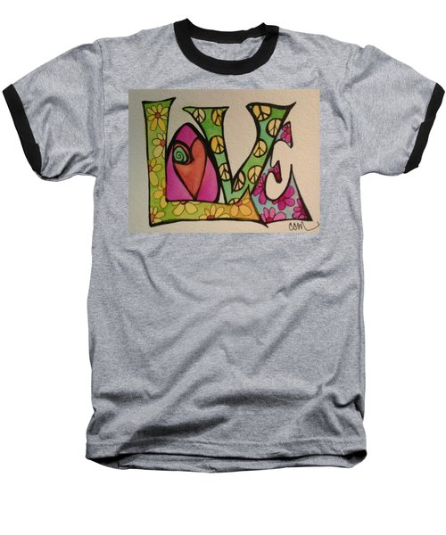 Peace And Love Baseball T-Shirt