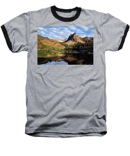 Peaceful Mountain Lake Baseball T-Shirt