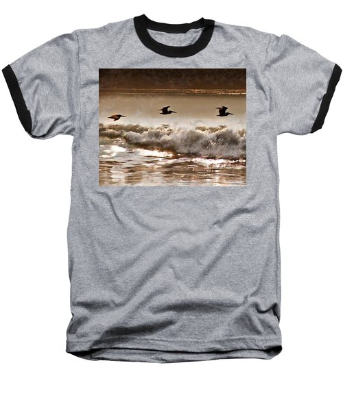 Pelican Patrol Baseball T-Shirt by Jim Proctor