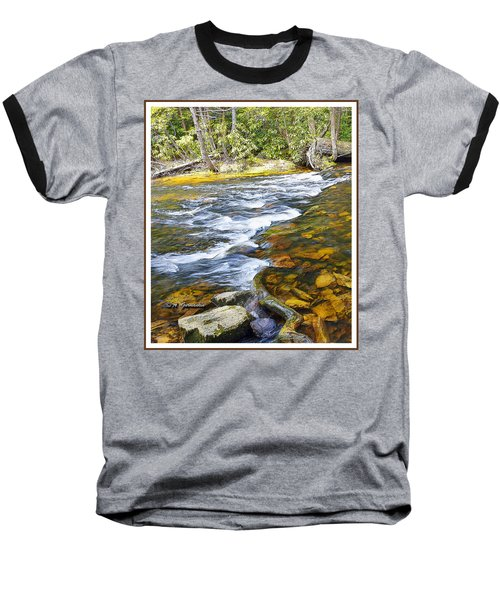 Pennsylvania Mountain Stream Baseball T-Shirt by A Gurmankin