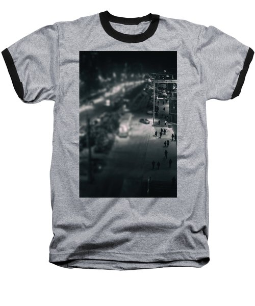 People At Night From Arerial View Baseball T-Shirt