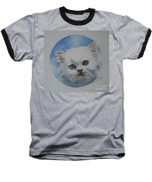 Baseball T-Shirt featuring the painting Persian Kitten by Sandra Phryce-Jones