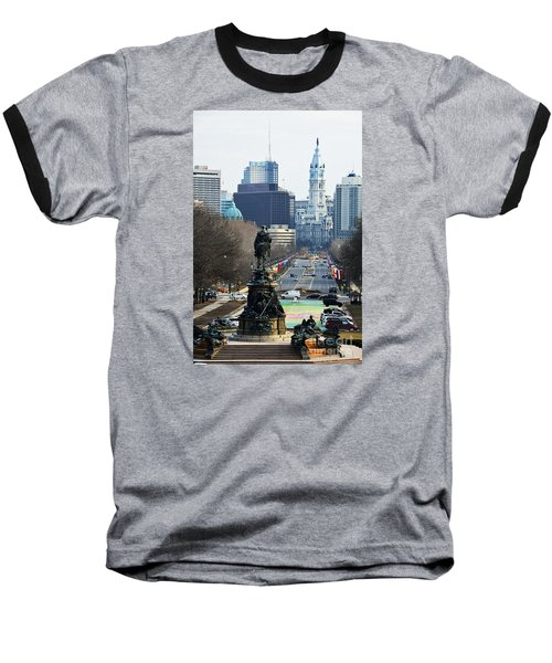 Philadelphia - The Parkway Baseball T-Shirt by Cindy Manero