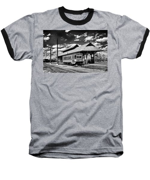 Baseball T-Shirt featuring the photograph Philadelphia Trolley by Paul W Faust - Impressions of Light
