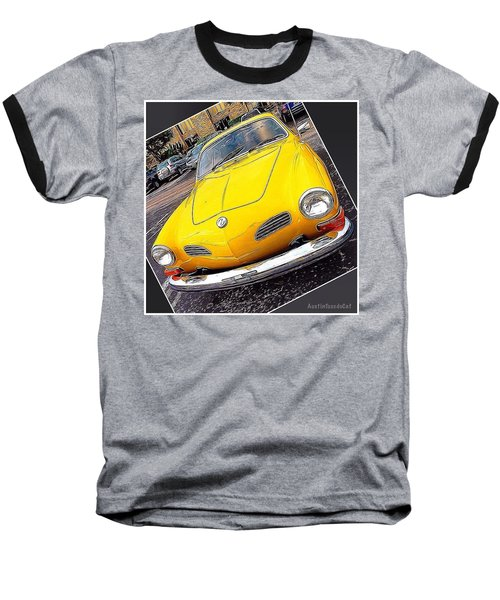 Photoshopping The #yellow #karminnghia Baseball T-Shirt by Austin Tuxedo Cat
