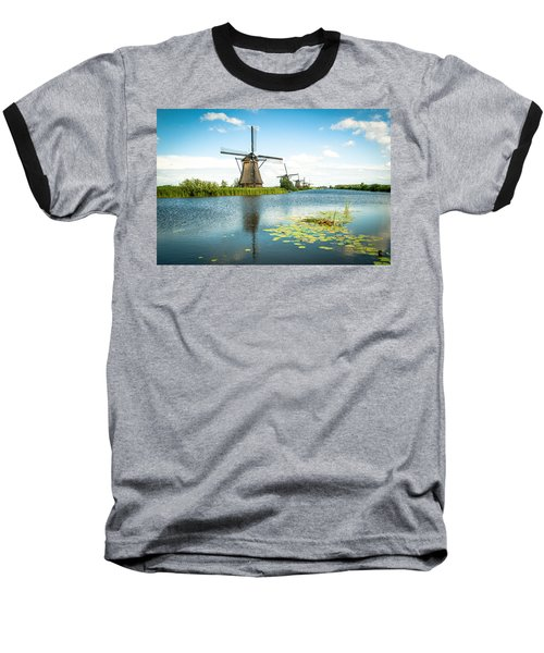 Baseball T-Shirt featuring the photograph Picturesque Kinderdijk by Hannes Cmarits