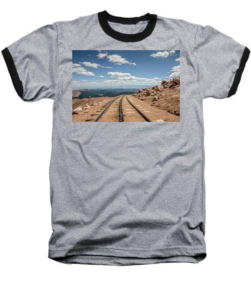 Pikes Peak Cog Railway Track At 14,110 Feet Baseball T-Shirt