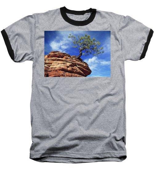 Pine Tree In Sandstone Baseball T-Shirt