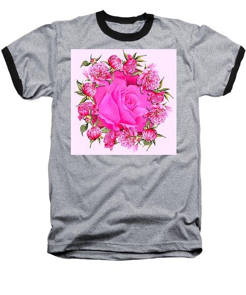 Pink Magnificence Baseball T-Shirt