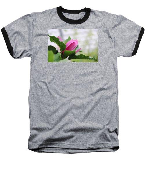 Baseball T-Shirt featuring the photograph Pink Magnolia  by Yumi Johnson