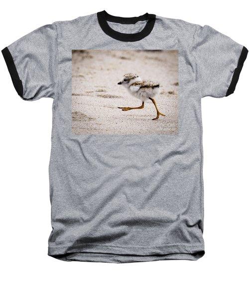 Piping Plover Chick Baseball T-Shirt