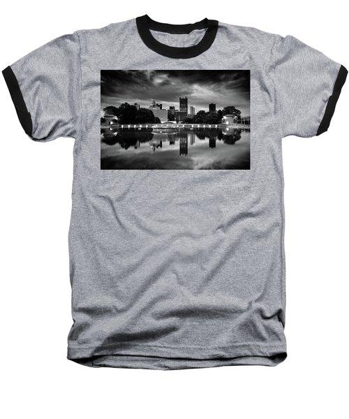 Pittsburgh  Reflections  Baseball T-Shirt by Emmanuel Panagiotakis