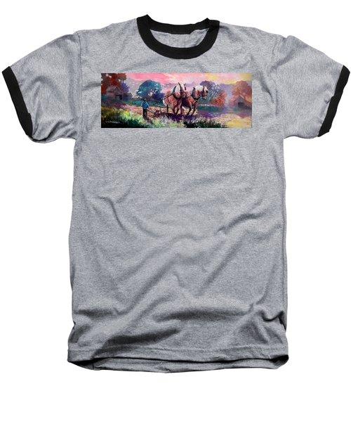 Ploughing  Baseball T-Shirt