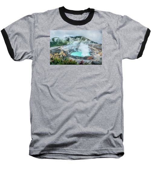 Poas Volcano, Costa Rica Baseball T-Shirt by RC Pics