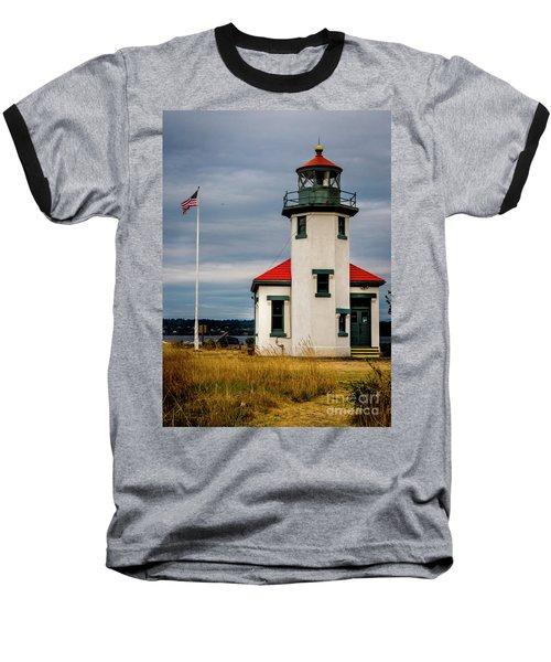 Point Robinson  Lighthouse,vashon Island.wa Baseball T-Shirt