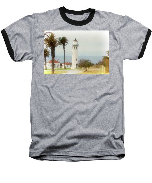 Point Vincente Lighthouse, California In Retro Style Baseball T-Shirt