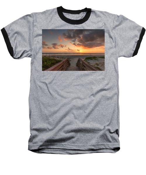 Ponce De Leon Inlet Beach Path Baseball T-Shirt